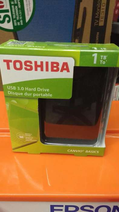 DISCO DURO PORTABLE 1TB TOSHIBA 3.0 NUEVO