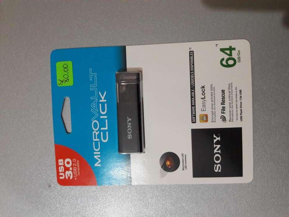 USB SONY DE 64 GB
