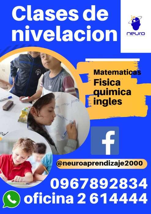 CLASES DE NIVELACIÓN A DOMICILIO ¡TODO QUITO!