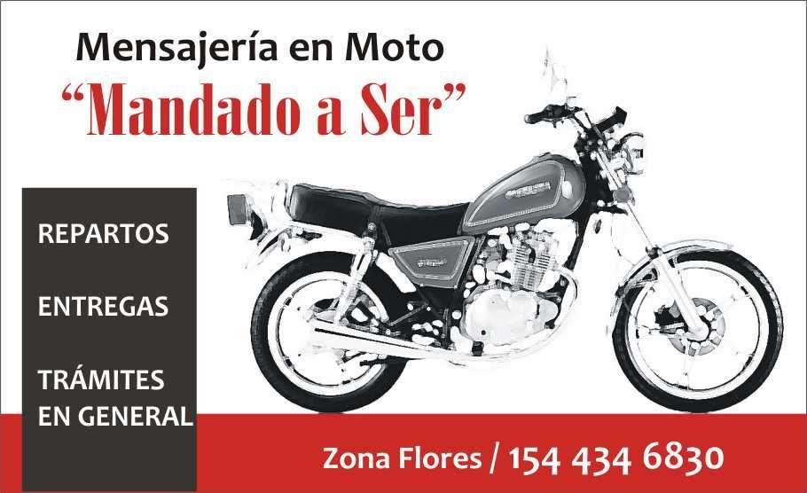 Mensajería en moto en Flores