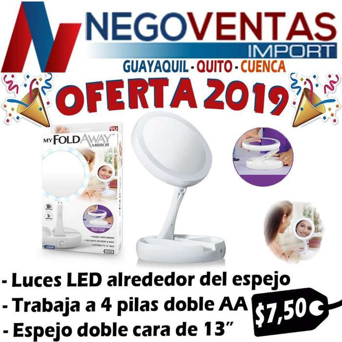 ESPEJO REDONDO CON LUCES LED ALREDEDOR DE LUJO