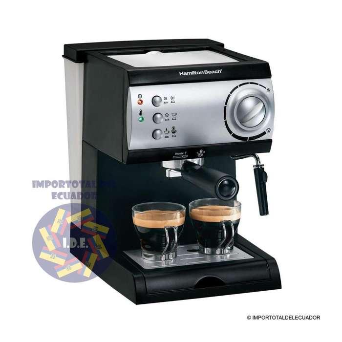 Cafetera Hamilton Beach alta calidad ''nuevas'' para hacer expresso, capuchino, latte o mocha / Modelo 40715