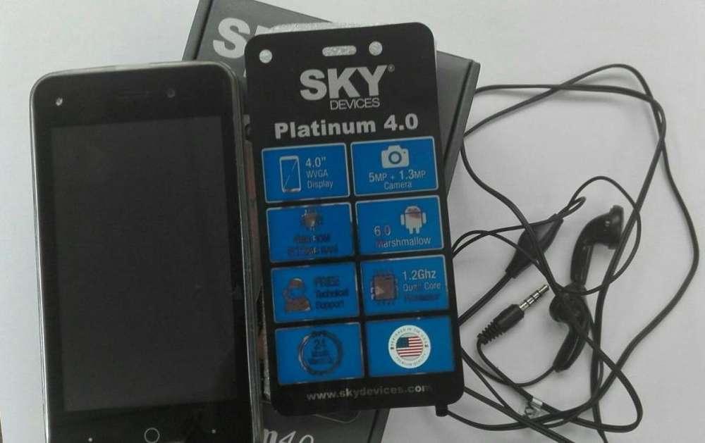 CELULAR Sky Platinum 4.0 Android Gris 4 Gb