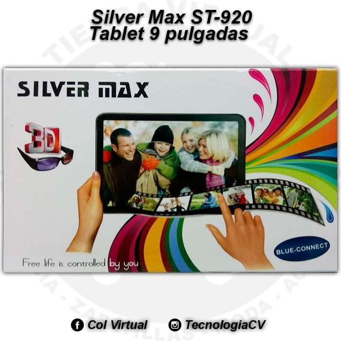 TABLET SILVER MAX ST 920 9ANDROID 4,2 512 RAM, MEMORIA INTERNA 8GB