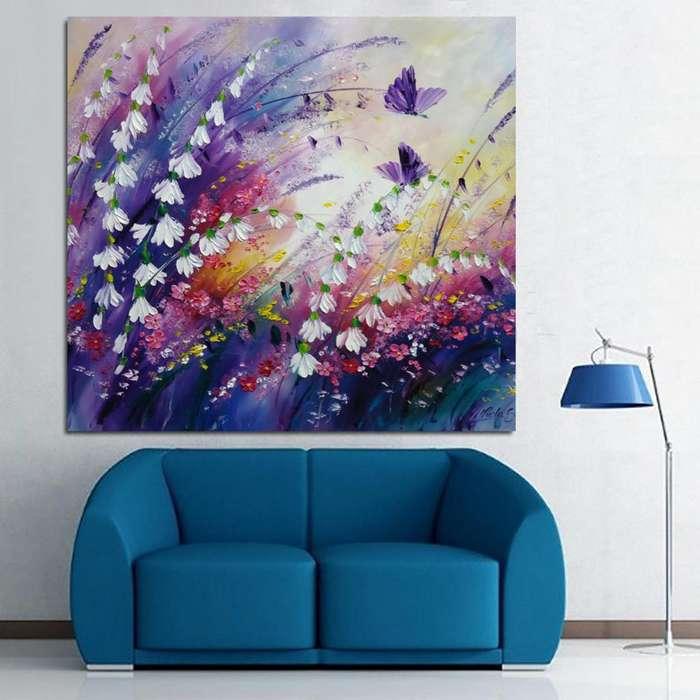 Cuadro decorativo en tono lila 3353