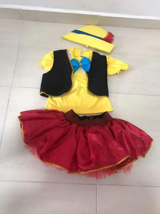 Disfraz de Niña Pinocho
