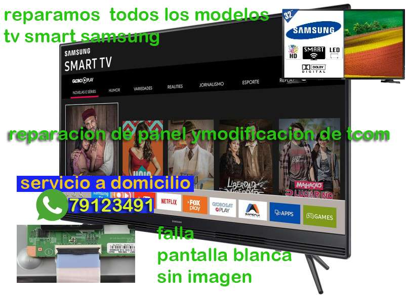 reparación de fallas smart TV SANSUMG