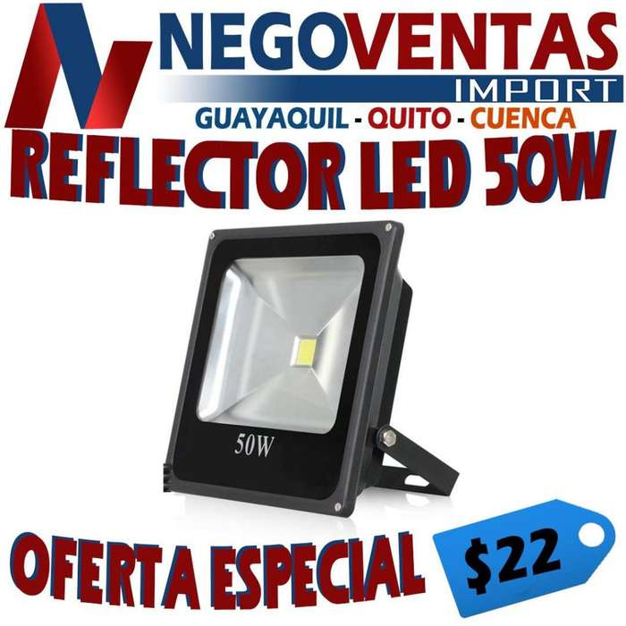 REFLECTOR LED 50 WATTS DE OFERTA