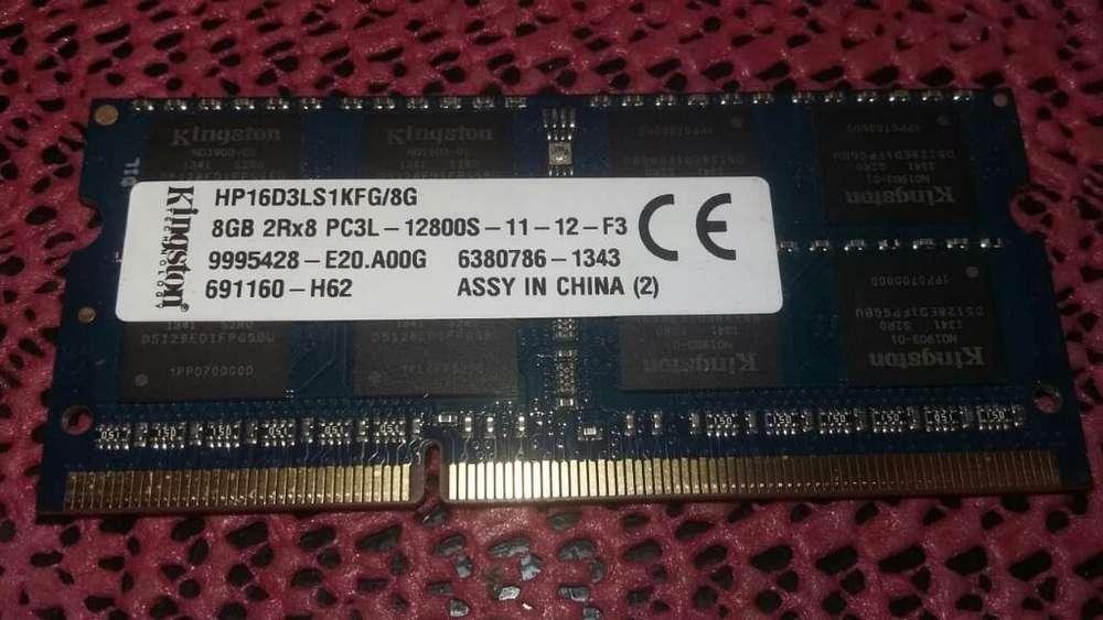Memoria Ram Laptop Ddr3l de 8gb 12800s
