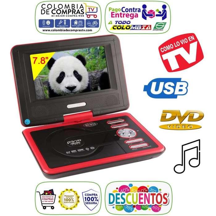 DVD Portátil Pantalla 7,8 Pulgadas 270 Rotación USB SD Radio FM Nuevos, Originales, Garantizados.