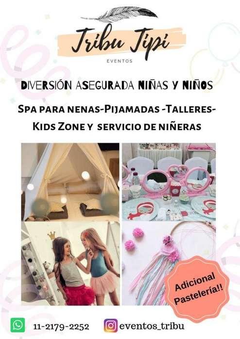 Niñeras para eventos, Spa para niñas y pijamadas