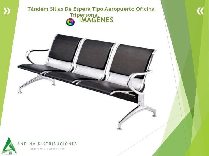 Tándem Sillas De Espera Tipo Aeropuerto Oficina Tripersonal