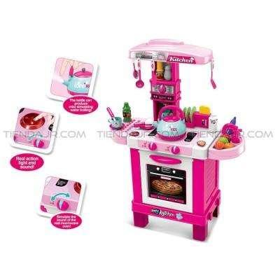 Cocina Juguete Niñas Kids Cook Tetera Con Luces y Sonidos Grande 87 Cm