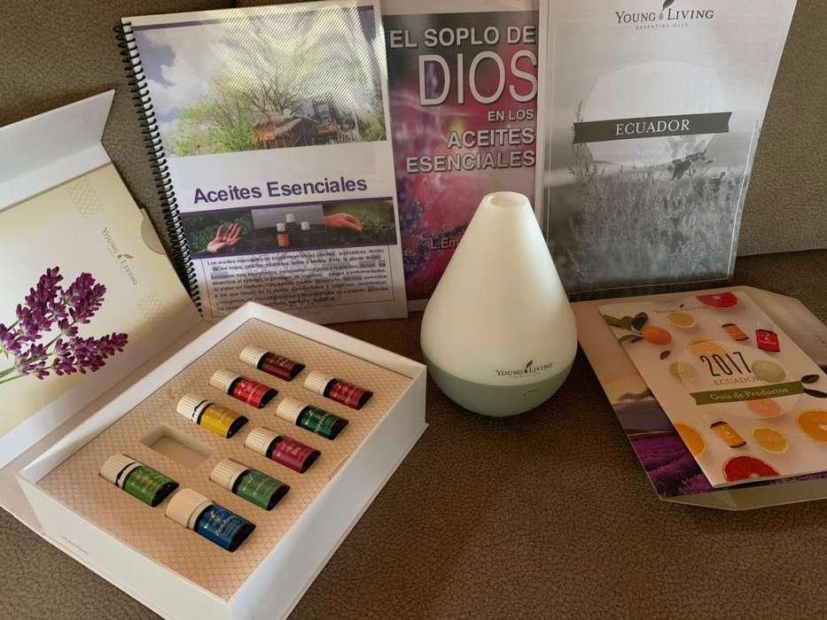 Aceites Esenciales Young Living con Difusor
