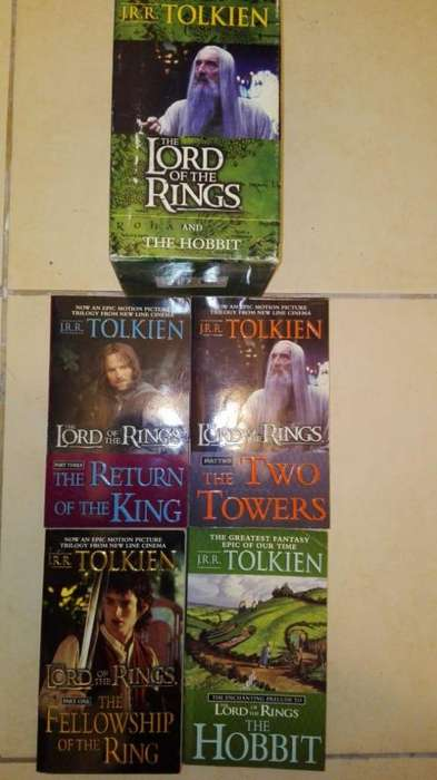 The Lord Of The Rings Libros Tolkien X4 en Caja en Ingles