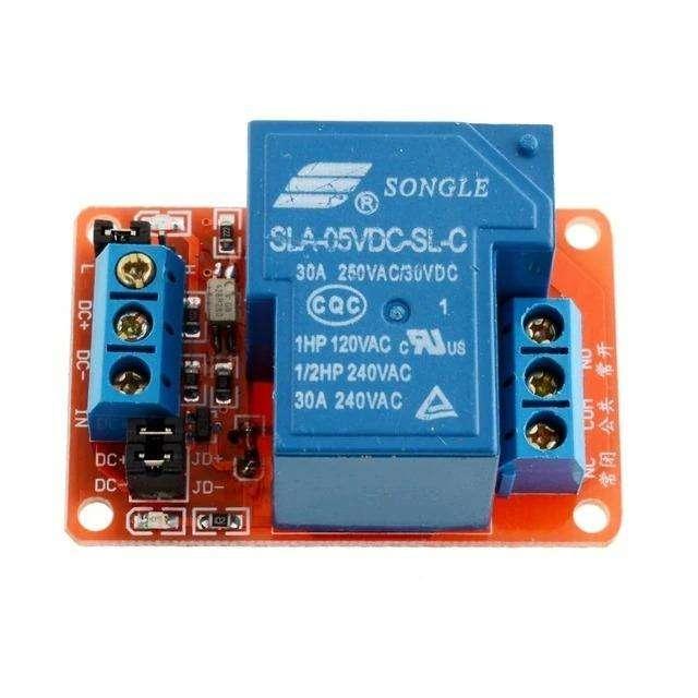 Módulo relay de 5V para cargas de 220V a 30A para arduino, raspberry