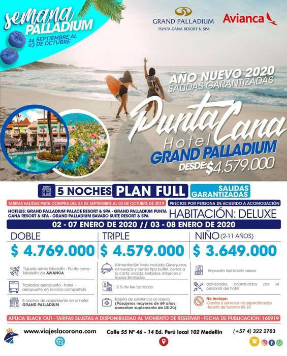 Viaje a Punta Cana con Viajes la Corona H. GRAND PALLADIUM
