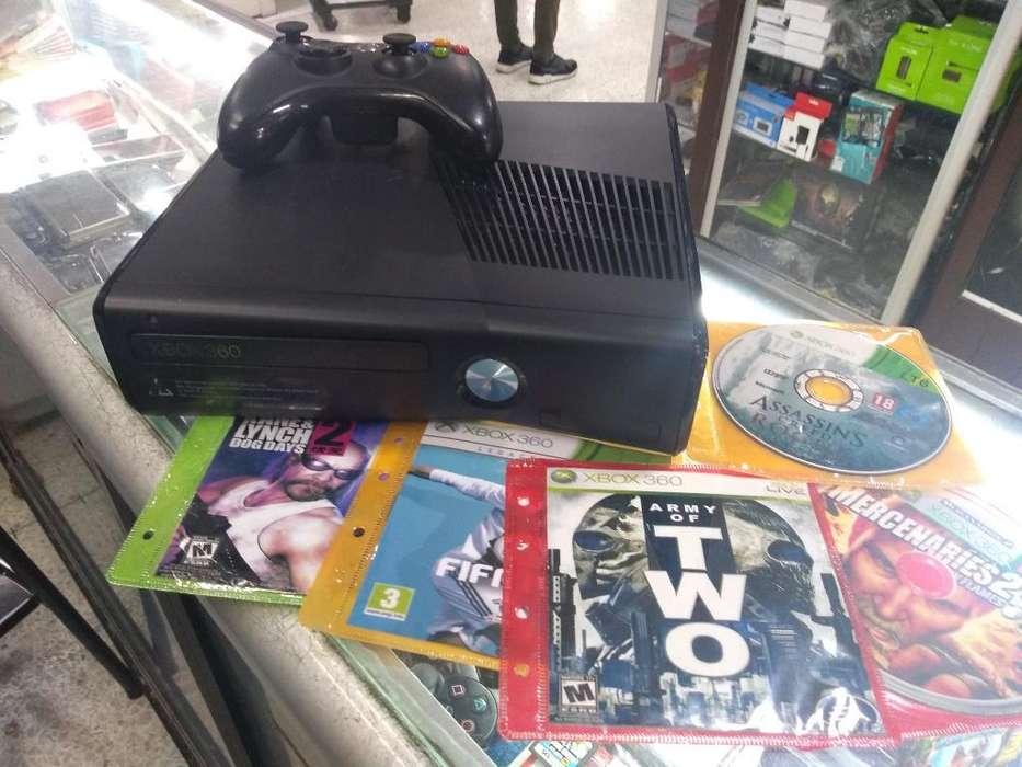 Xbox 360 Slim Programada 5 Juegos Garant