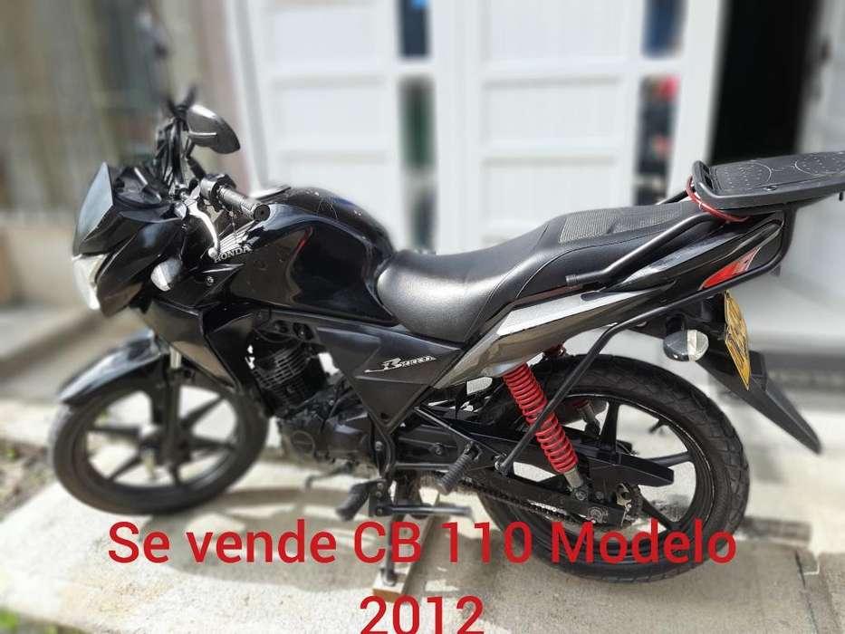 Se Vende Moto Cb 110 Modelo 2012