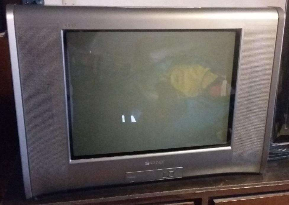 Televisión SONY 21 pulgadas - TRINITRON con control remoto andando