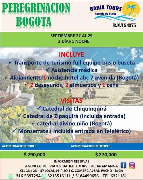 Tour Peregrinacion Bogota Setiembre 27