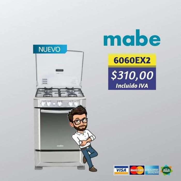 Cocina Mabe 4 Quemadores Grill
