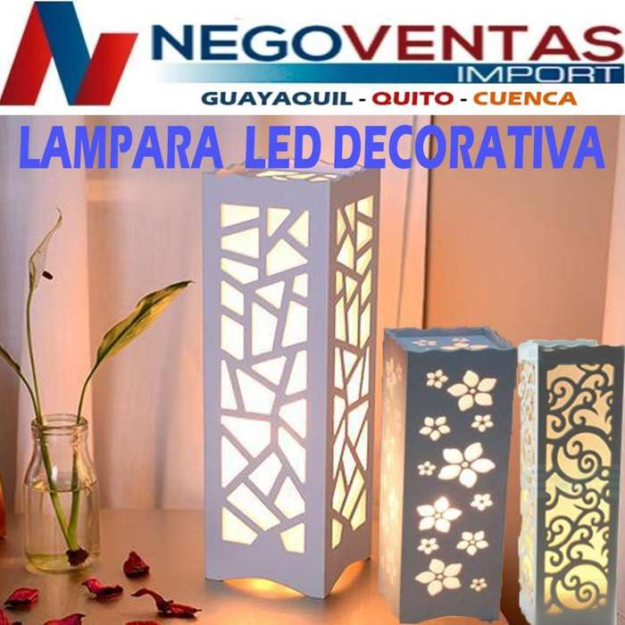 LAMPARA LED MATERIAL PLASTICO PARA DECORACION DE HOGAR