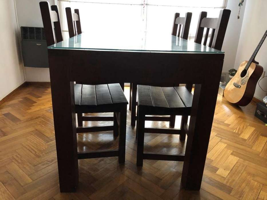 vendo mesa y <strong>silla</strong>s algarrobo macizo