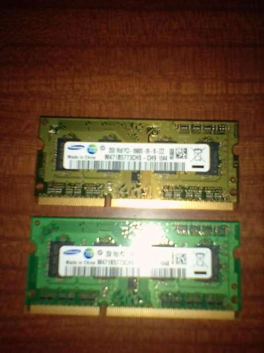 RAM DDR3 sodim SAMSUMG NET/NOTEBOOK 2 gigas (C/u)