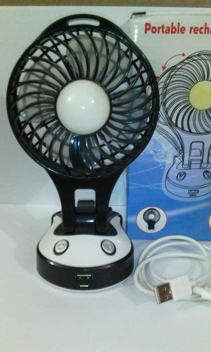 Mini ventilador portatil usb recargable con luz