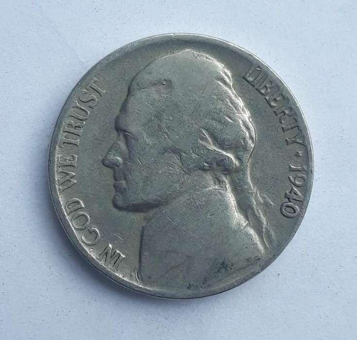 Moneda de 5 centavos EE.UU. de 1940