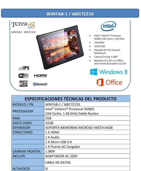 Tablet con Windows 10 Pro