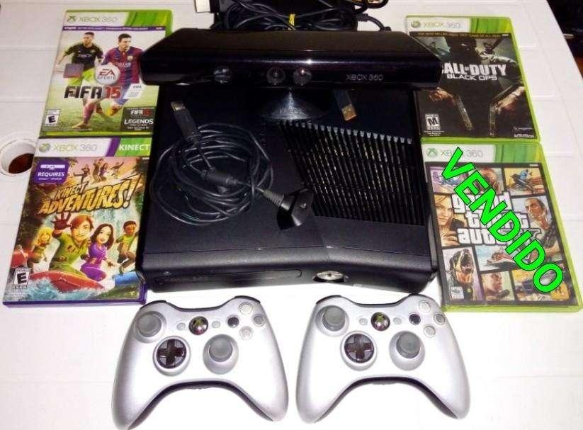 Xbox 360 Slim 4GB Original sin chip, 2 controles, Kinect, 3 Juegos, Hdmi, LEER ANUNCIO