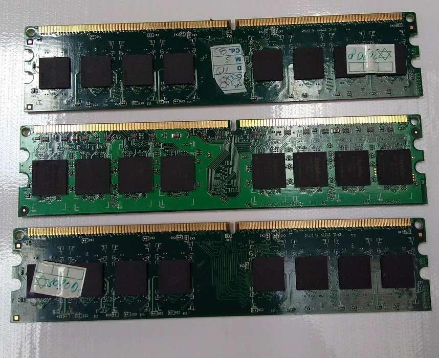 Memoria Ram Ddr2. 4 Modulos de 1 Gb.