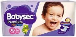 Pañal Babysec Premium violeta Bebe Mx52 Gx44 Xgx36 Xxgx34 LANUS zona sur