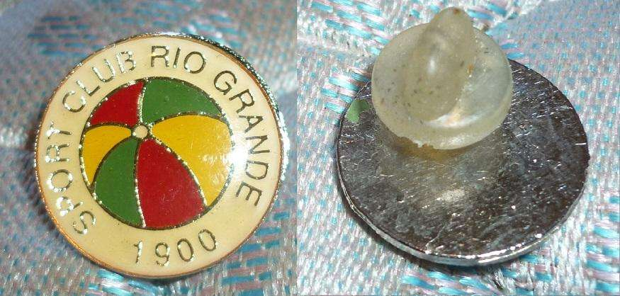 Raro Pin Distintivo Sport Club de Rio Grande 1980 Club Decano del futbol de Brasil