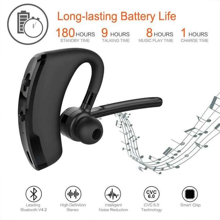 Manos Libres Inalámbrico v8 Bluetooth V4.1 - audifonos inalambricos de alta duración, cancelación de ruido,