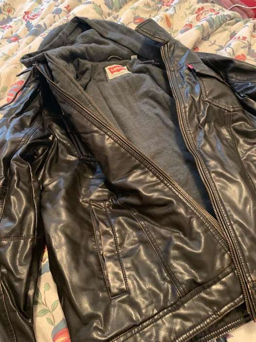 Campera Cuero <strong>levis</strong> Talle L Marron Oscur