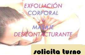 masaje descontracturante exfoliacion corporal 500