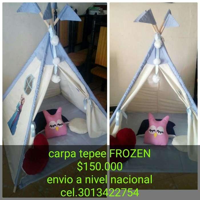 Linda Carpa Tepee Frozen!!