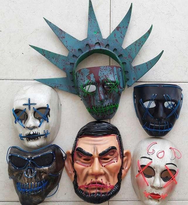 Mascara la purga en luz led todos los estilos y mas para halloween iluminadas