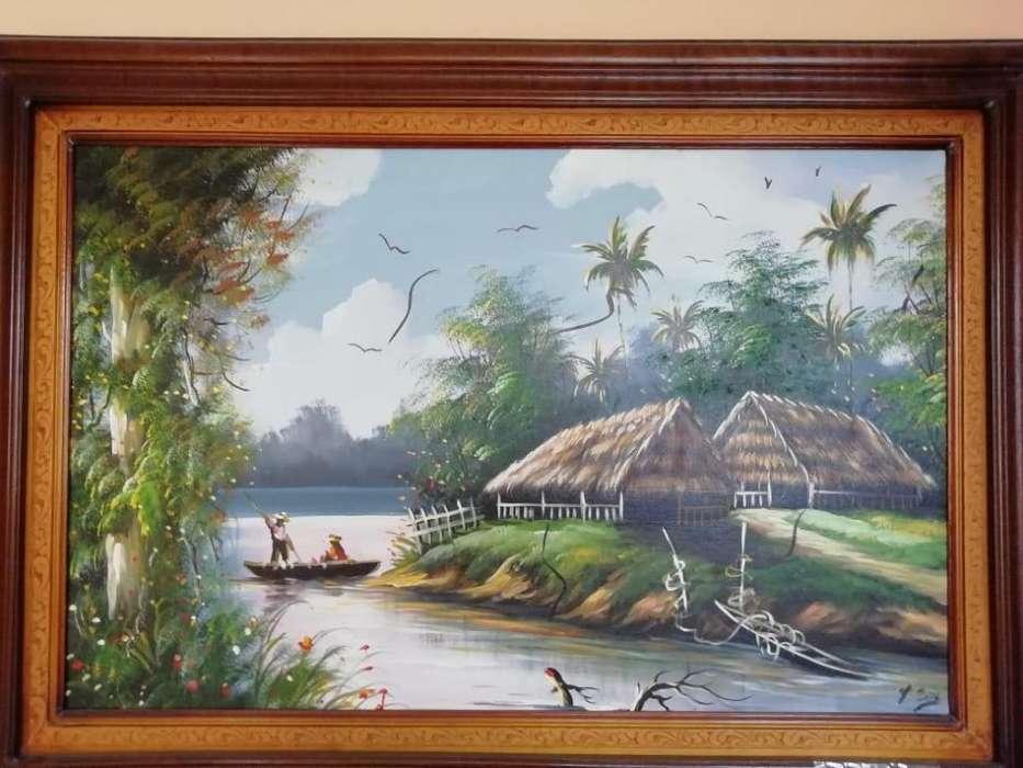 Cuadros pinturas decorativos pintados en óleos PAISAJE NATURAL