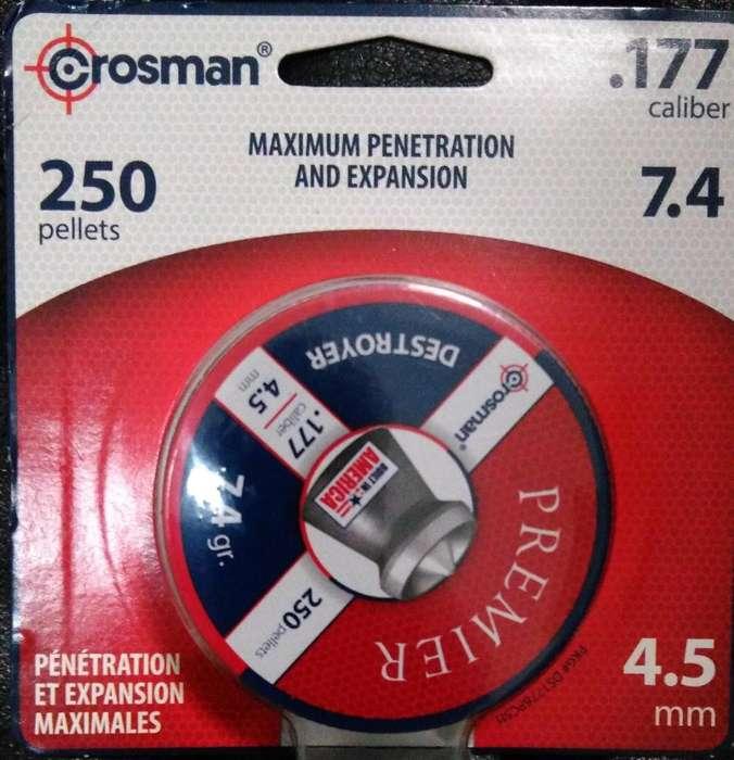 balines crosman 4.5mm ...250 unidades