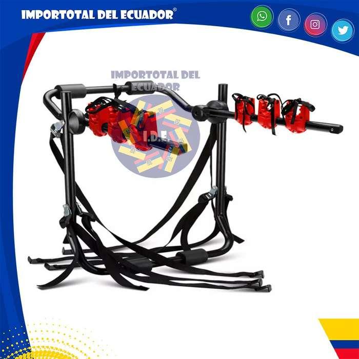 Porta bicicletas universal regulable ''nuevo'' / Tubos de acero para 1 hasta 3 bicicletas / Resiste hasta 99 libras