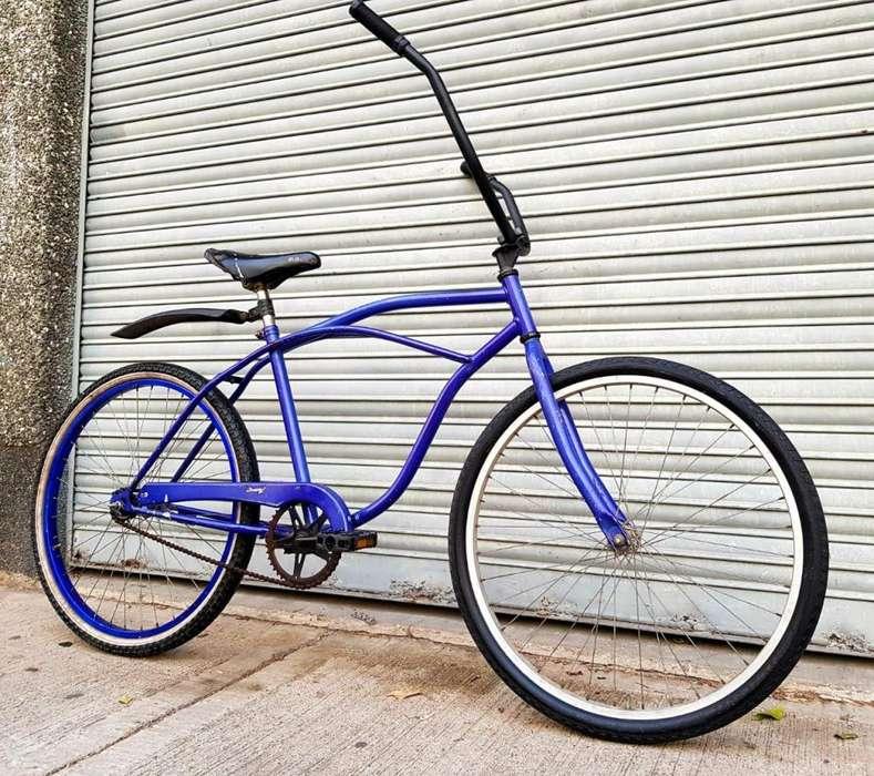 Bicicleta Playera Azul Rodado 26 Contrapedal Buen Estado.