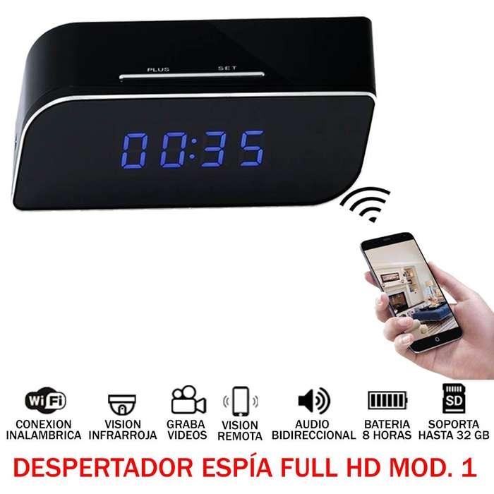 Despertador Espia Full Hd 1080p camara oculta Wifi