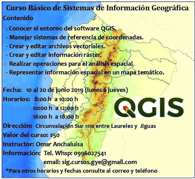 QGIS Curso Básico de Sistemas de Información Geográfica Contenido