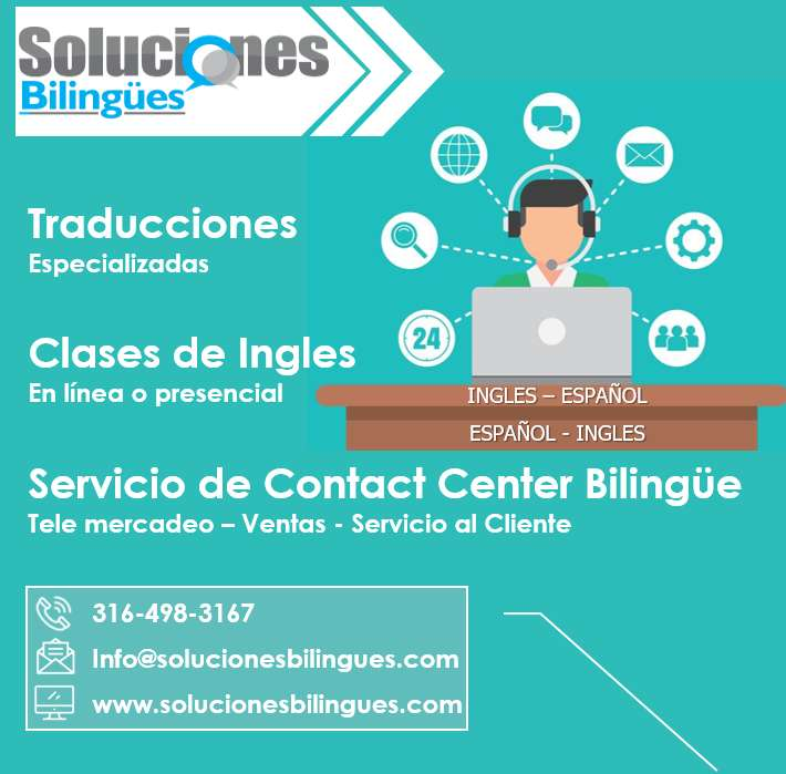 Traducciones, Clases de Ingles, Contact center bilingue