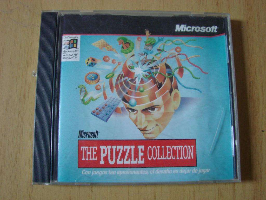 The Puzzle Collection Microsoft 1997 Usado Vintage Unico CD ROM estado impecable