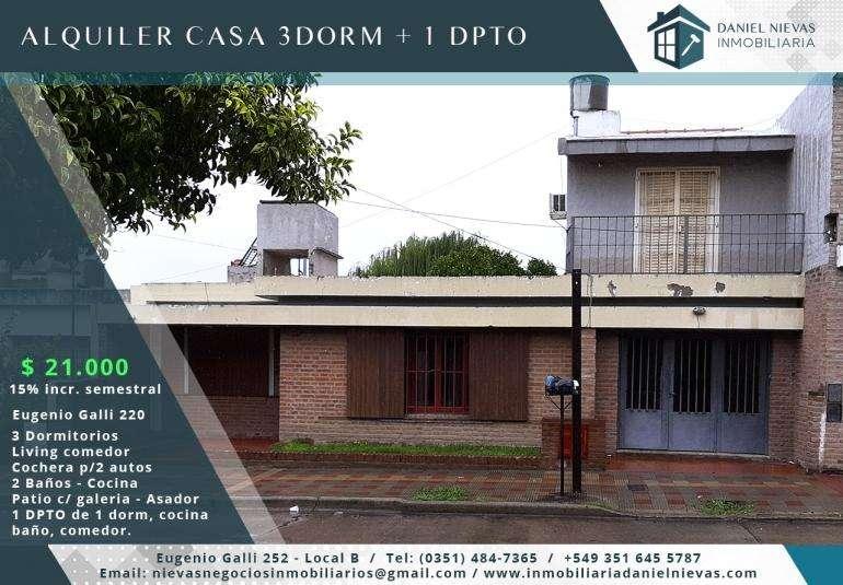 ALQUILER CASA 3 DORM DPTO 1 DORM - B LAS PALMAS